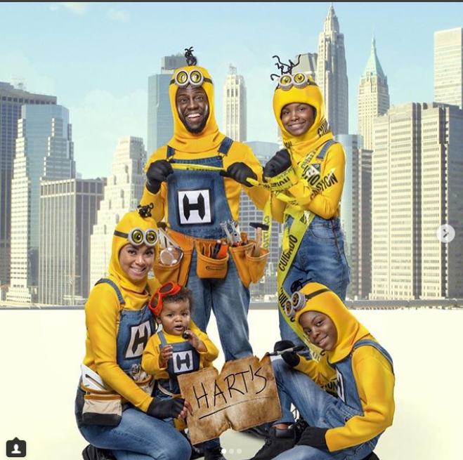 Kevin Hart and his family dress as Minions for 2018 Halloween