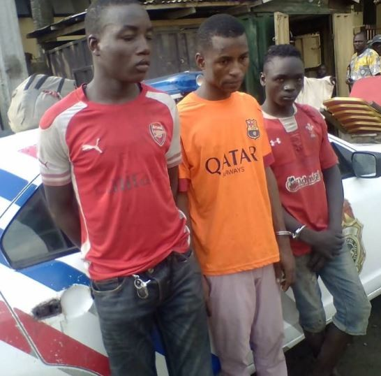 Photos: 25-year old robber nabbed for selling off 9 chairs belonging to the event centre in Lagos