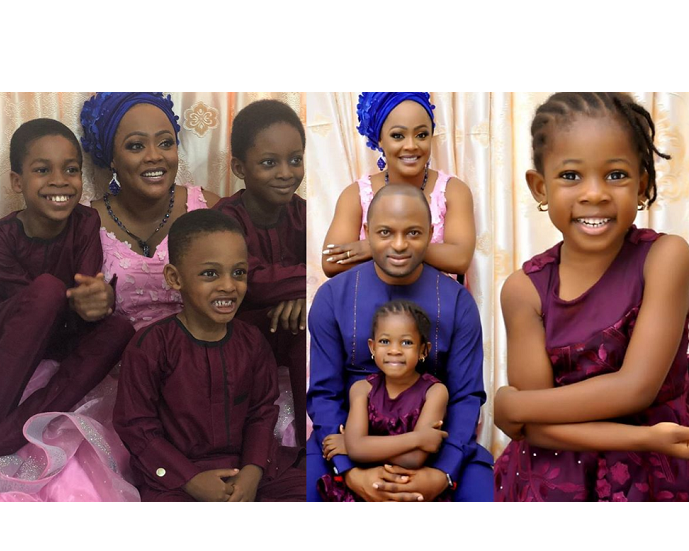 Adorable family photos of Helen Paul, her husband and their children