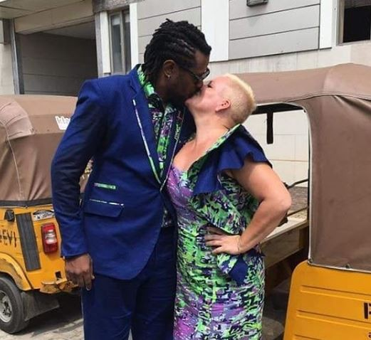 Lagos photographer, Bolaji Alonge and his Belgian fiance, Sandra weds with a cavalcade of 20 Keke Napeps (Photos)