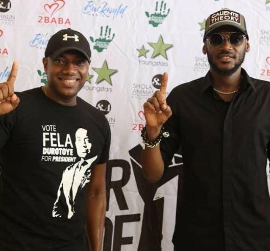 Photos: Fela Durotoye attends 2face Idibia's movie premiere
