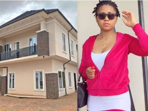 Nollywood actress, Regina Daniels shpws off the new house she got for her num