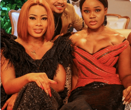 #BBNReunion: Cee-C and Nina enjoy a laugh on Twitter after sex between 'Alex & Tobi' is revealed to the World (Screenshot)