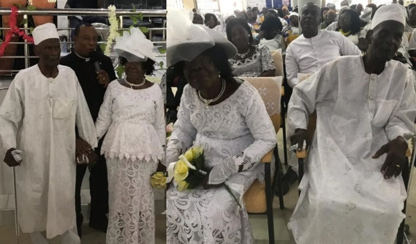 96-year-old man marries 93-year-old lover after 50 years of romance (photos)