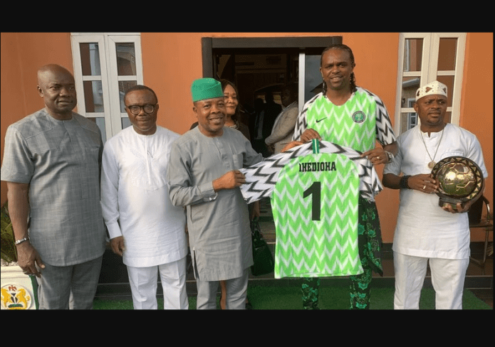Kanu Nwankwo appointed as SSA on Sports matters to Gov Ihedioha of Imo state (Photos)