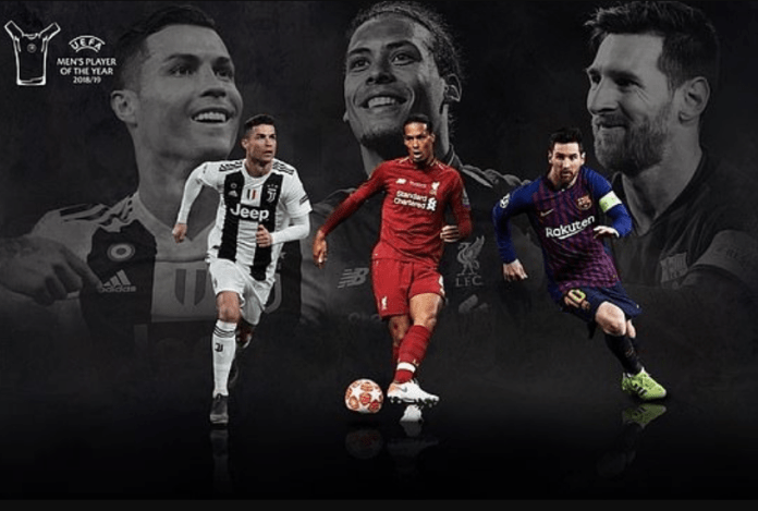 Lionel Messi, Cristiano Ronaldo and Virgil van Dijk on three-man shortlist for UEFA Mens Player of the Year