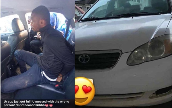 Pastor arrested after snatching Uber drivers car (photos)