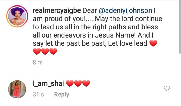Let the past be past- Mercy Aigbe appeals to Toyin Abraham's ex-husband, Adeniyi Johnson