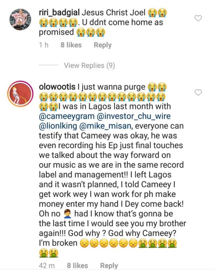 Nigerian Rapper Cameey dies from Liver cancer
