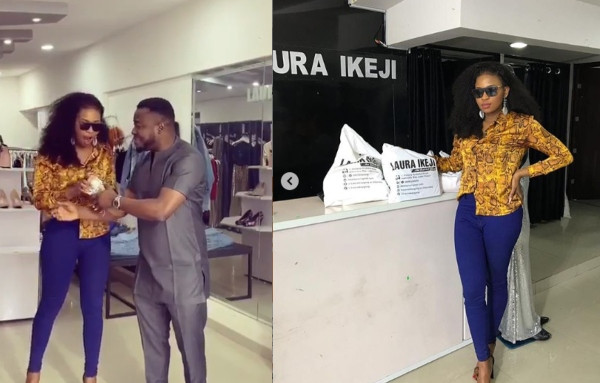 Cindy gets N1m from MC Galaxy after coming to Laura Ikeji's store to shop lindaikejisblog