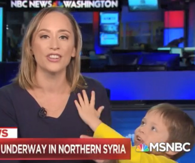 Adorable moment US TV host was interrupted on live TV by her son (video)