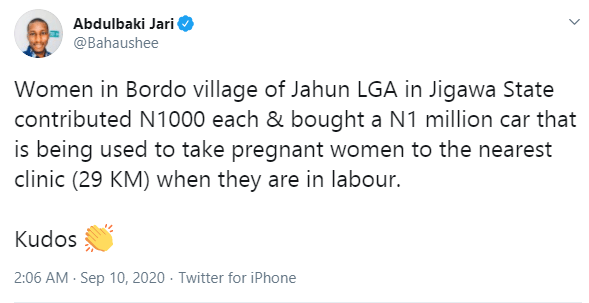 Women in Jigawa community contribute money to take pregnant women to the nearest clinic lindaikejisblog