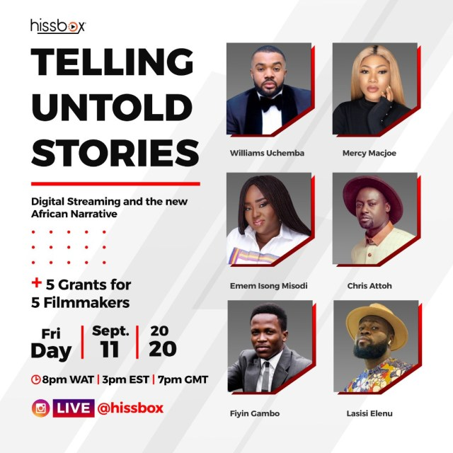 Telling Untold Stories: Streaming service Hissbox launches with a grant of $25,000 for young filmmakers lindaikejisblog