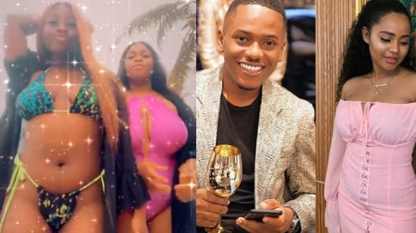Actor Timini Egbuson's girlfriend, Lydia dragged by alleged side chick and her friends lindaikejisblog
