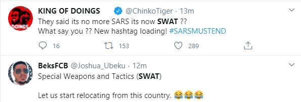 Nigerians reacts as IGP creates SWAT as replacement for SARS lindaikejisblog 3