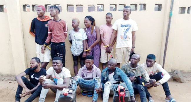 Police arrest 15 suspected cultists and robbers in Lagos lindaikejisblog