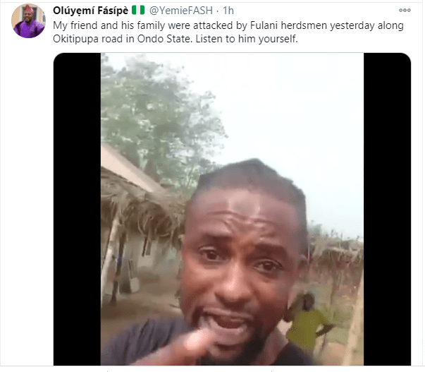 Man curses Governor Makinde as he shares video from scene of an alleged Fulani herdsmen attack he survived with his family lindaikejisblog