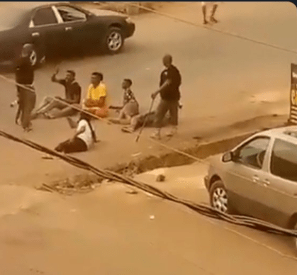 Policemen spotted flogging young men with sticks in Orlu