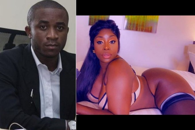 American model/stripper Symba shows support for Nigerian convicted fraudster Invictus Obi
