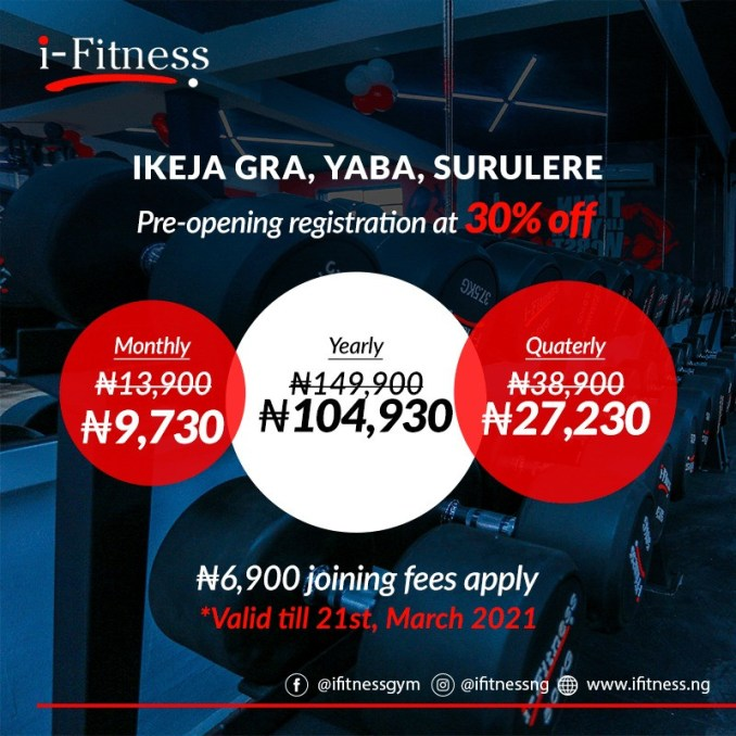 i-Fitness Nigeria's first and fastest-growing fitness chain opens 3 new world-class fitness centres on the mainland lindaikejisblog1
