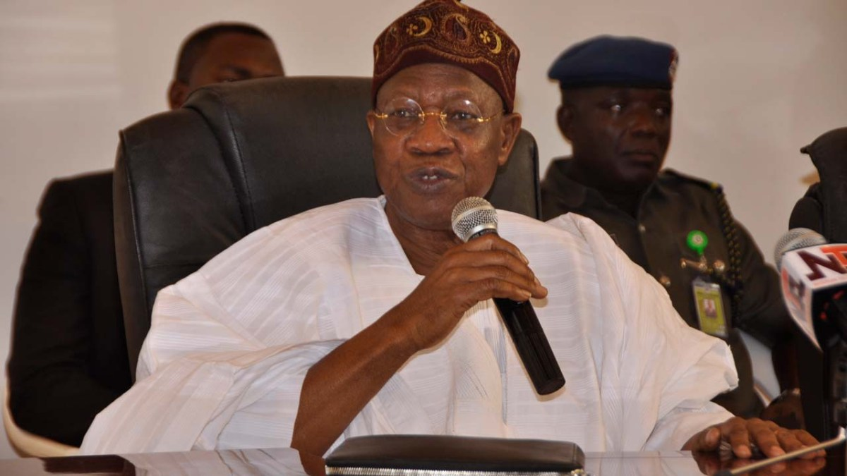 Nigerias poor corruption rating by TI as a result of inadequate data - Lai Mohammed