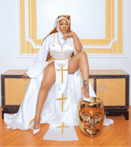 Nigerians have refused to be liberated when it comes to fashion and depicting themes - Toyin Lawani defends herself after being called out over raunchy nun photos