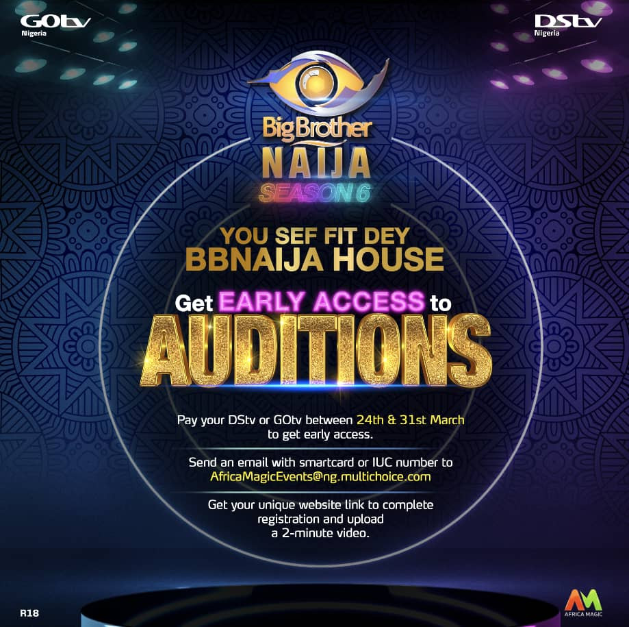 BBNaija Season 6: All You Need to Know About Early Access Auditions lindaikejisblog1