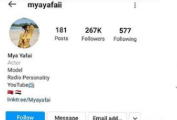 Davido's alleged new girlfriend, Mya Yafai deletes all her photos and deactivates her Instagram account after photos of her kissing the singer went viral  1