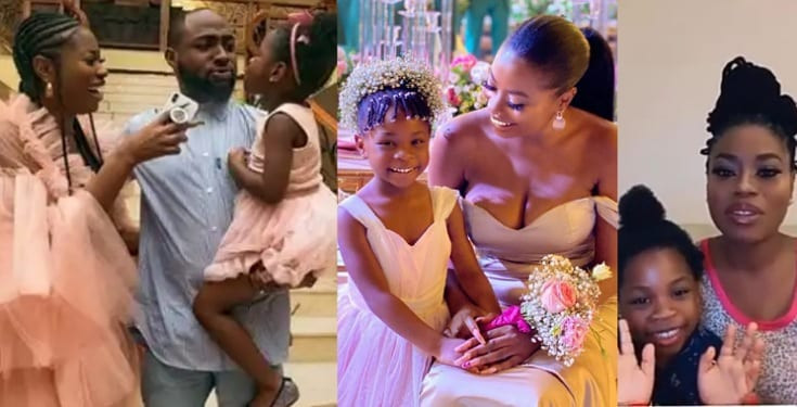 Adorable video of Davidos daughter Imade speaking French with her mother Sophia Momodus sister