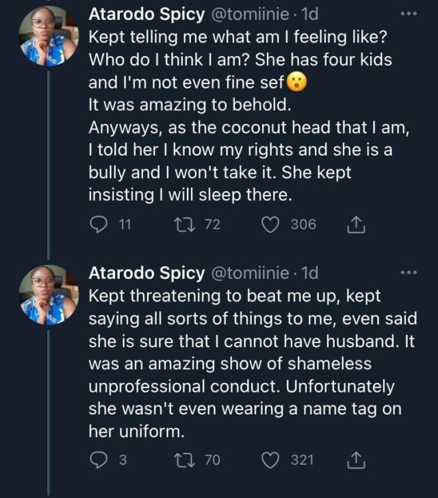 Doctor narrates how a female police officer tried bullying her for giving her documents of her car with left hand 3