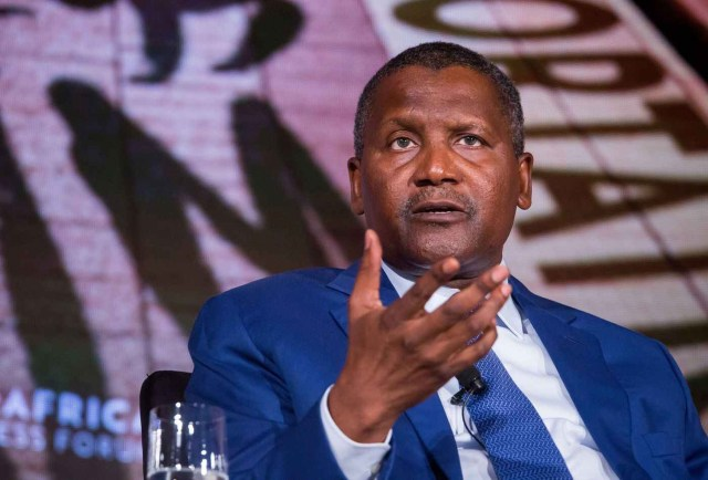 Dangote ranked 117th in latest global billionaires index