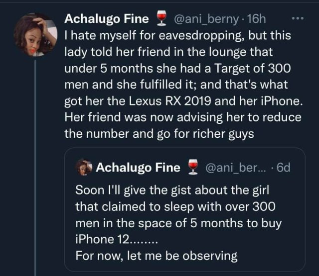 Lady sleeps with 300 men in 5 months to buy an SUV and iPhone 12 1