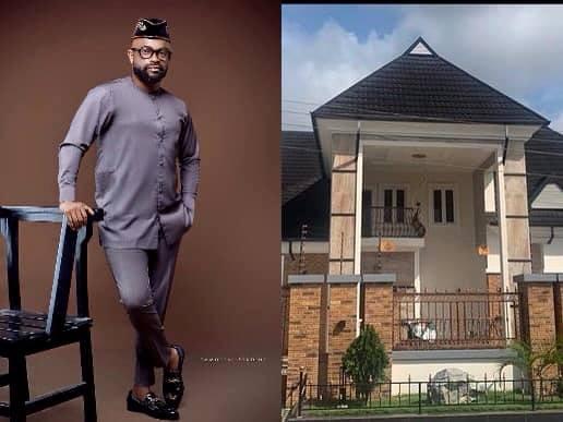 Actor Bishop Umoh 'Okon Lagos' show off his new house