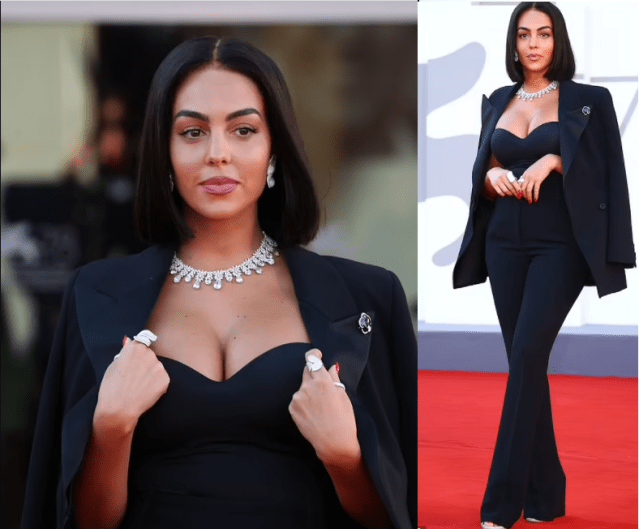 Cristiano Ronaldo's partner Georgina Rodriquez puts on a busty display in a corset as she steps out forVenice Film Festival 2021