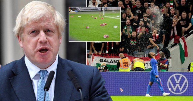 UK Prime Minister Boris Johnson condemns racist abuse aimed at Raheem Sterling and Jude Bellingham during Hungary vs England match