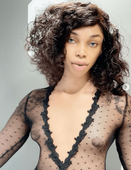 Cross-dresser, Jay Boogie flashes growing boobs as he talks about misogyny 2