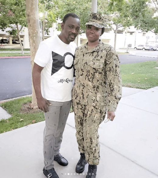 Pasuma visits daughter who is a Naval officer in US Navy at her base in California 1