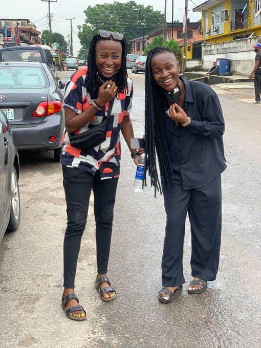 Nigerian LGBT Activist, Amara and her lesbian partner Olayinka marry by tattooing a ring on the fingers