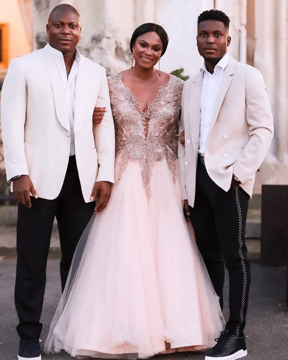 'With my favorite human'- Footballer, Yakubu Aiyegbeni's wife gushes as she shares lovely family photos