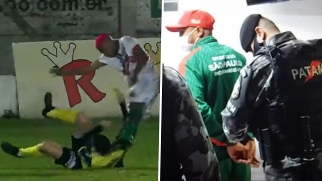 Update: Brazilian football player, William Ribeiro faces attempted murder charge for attacking referee on the pitch