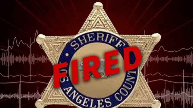 L.A. County Sheriff's Deputy fired for allegedly having sex at Universal Studios Hollywood