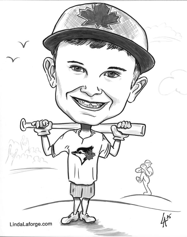 Commission for a child's present, Caricature