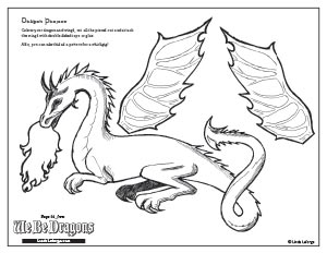 colouring projects of dragons for free