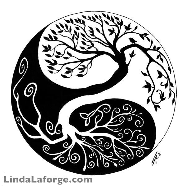 Celtic Yin Yang tree design