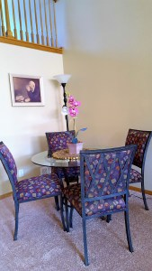 Table, chairs and centerpiece from consignment shop