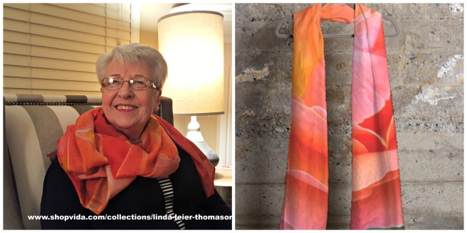 Peach Rose Cashmere Modal looks stunning on Brenda.