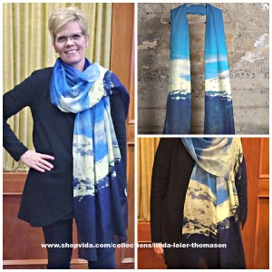 Donna looking great in her cashmere Mt. Rainier modal scarf