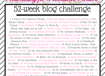 MFRWauthor 52-Week Blog Challenge