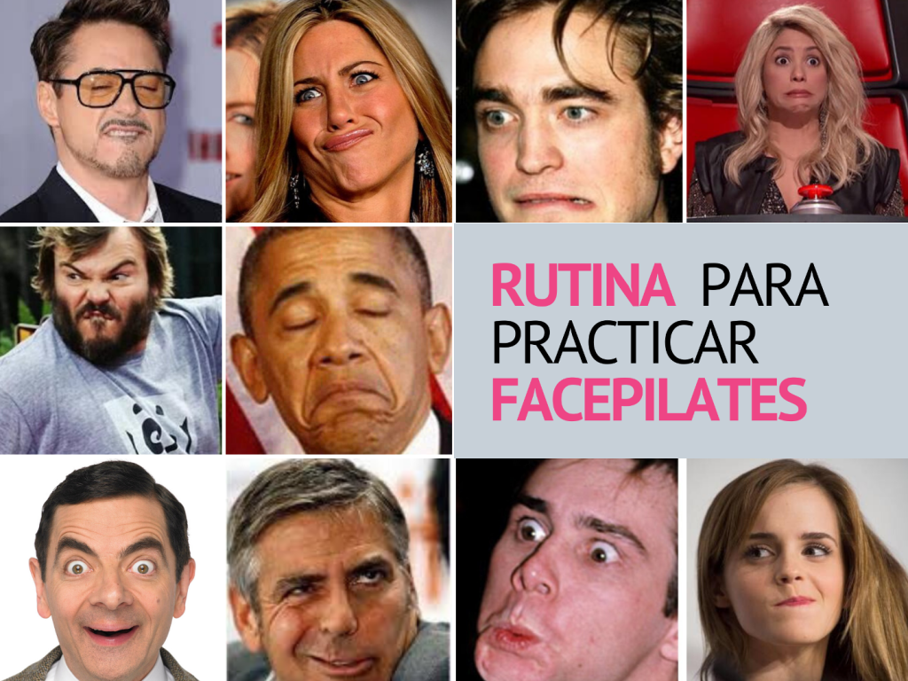 foto famosos caretos Linda Magazine facepilates