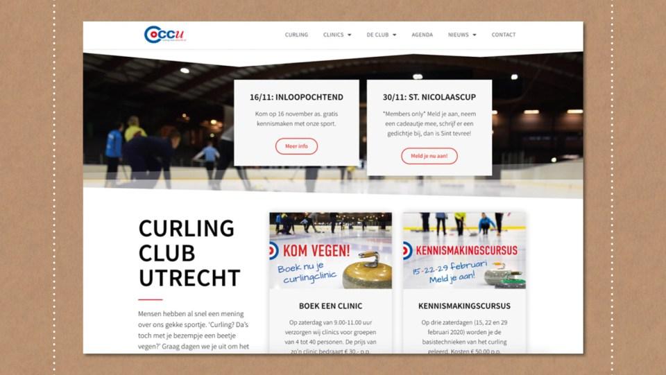 Webdesign Curling Club Utrecht